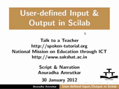 User Defined Input and Output - thumb