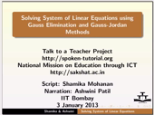 Linear equations Gaussian Methods - thumb