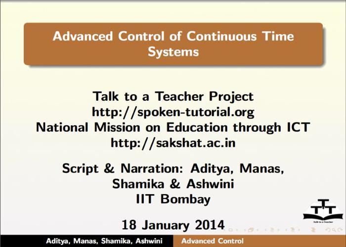 Control systems - English | spoken-tutorial org