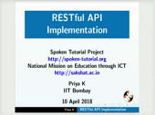 RESTful API Implementation - thumb