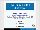 RESTful API with a REST Client - thumb