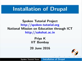 Installation of Drupal - thumb
