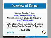 Overview of Drupal