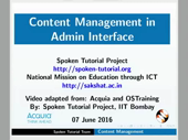 Content Management in Admin Interface - thumb