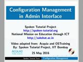 Configuration Management in Admin Interface - thumb