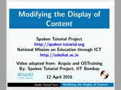 Modifying the Display of Content - thumb