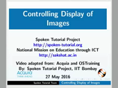 Controlling Display of Images - thumb