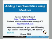 Adding Functionalities using Modules - thumb