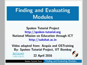 Finding and Evaluating Modules - thumb