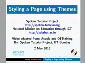 Styling a Page using Themes - thumb