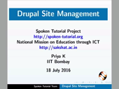 Drupal Site Management - thumb