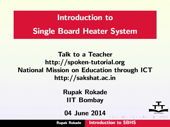 Introduction to Single Board Heater System - thumb