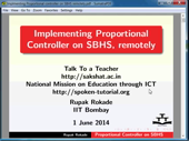Implementing Proportional Controller on SBHS remotely - thumb