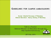 Guidelines for a Campus Ambassador - thumb