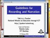 Guidelines for recording and narration - thumb