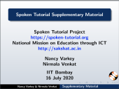 Spoken Tutorial Supplementary Material - thumb