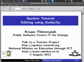 Editing using Audacity - thumb