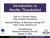 Introduction to Thunderbird