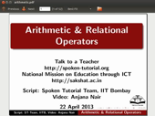Arithmetic and Relational Operators - thumb
