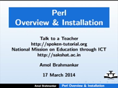 Overview and Installation of PERL - thumb