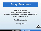 Array functions - thumb
