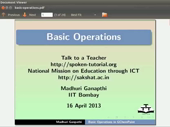 Basic operations - thumb