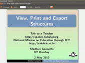 View Print and Export structures - thumb