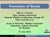 Formation of Bonds - thumb