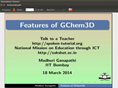Features of GChem3D - thumb