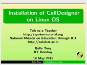 Installation of CellDesigner on Linux - thumb