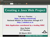 Creating a Java web project - thumb