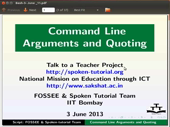 Command Line arguments and Quoting - thumb