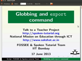 Globbing and Export statement - thumb