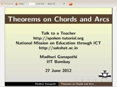 Theorems on Chords and Arcs - thumb