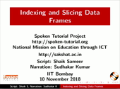 Introduction to RStudio - English | spoken-tutorial org