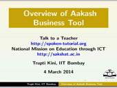 Overview of Aakash Business Tool - thumb