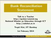 Bank Reconciliation - thumb