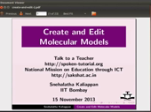 Create and edit molecular models - thumb