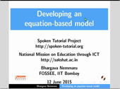 Developing an equation-based model - thumb