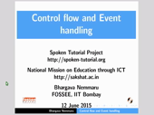 Control flow and Event handling - thumb