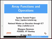 Array Functions and Operations - thumb