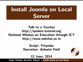 Installing Joomla on a local server - thumb