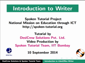 Introduction to LibreOffice Writer - thumb