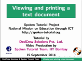 Viewing and printing documents - thumb