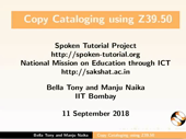 Copy cataloging using Z39.50