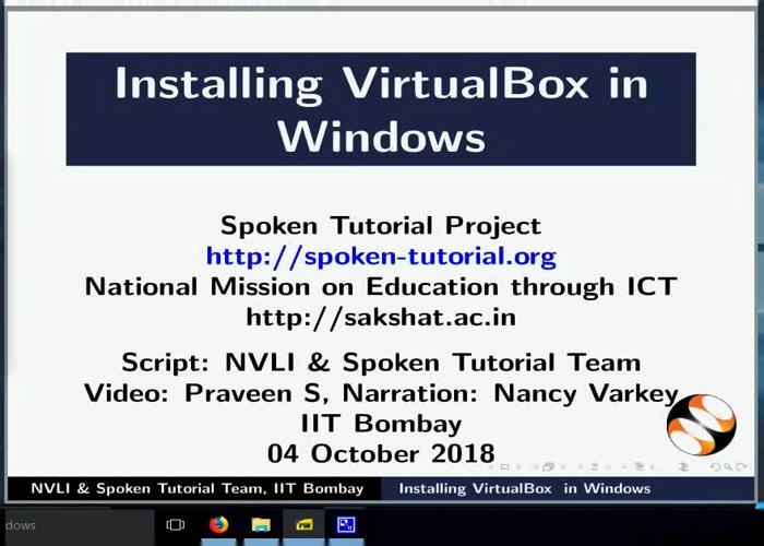 Installing VirtualBox in Windows OS - English | spoken