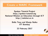 Create MARC framework - thumb