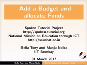 Add Budget and Allocate Funds - thumb