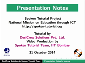 Presentation Notes - thumb