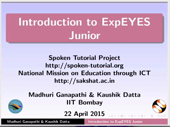 Introduction to ExpEYES Junior - thumb